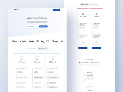 Pricing page for UpGuard