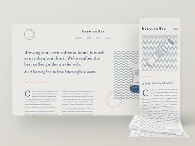 Brand experiments — part 03 websites orpheus mrs eaves type typography coffee blog brand identity webflow web design ui clean ui figma simple minimal minimalism creative website illustration