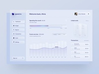 Skeuomorph personal finance app dashboard