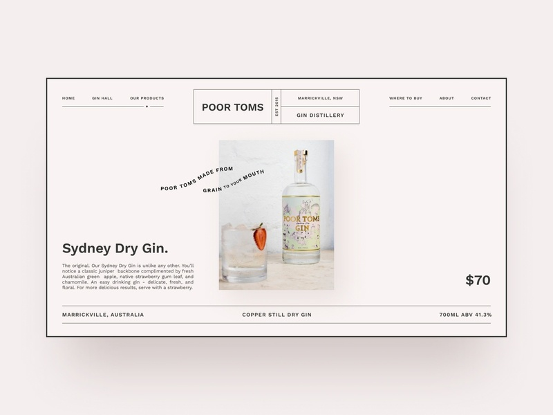 Gin distillery website exploration — part 02 shopify e-commerce pink whiskey whisky minimalism clean ui web design brand identity landing page webflow typography distillery gin concept australian bottle ecommerce clean minimal