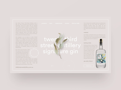 Gin distillery website exploration — part 03 shopify e-commerce whiskey whisky type gin concept flora botanical ecommerce bottle clean typography webflow landing page brand identity web design simple minimal minimalism