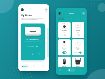 Intelligent Home Interface Practice 空调 智能 家居 家具 图标 furniture intelligence logo ps ui illustrations home design sketch icon