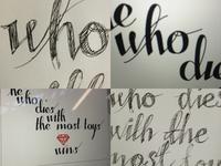 Hand lettering work