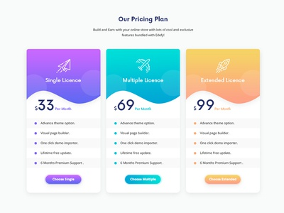 Cool Pricing Table