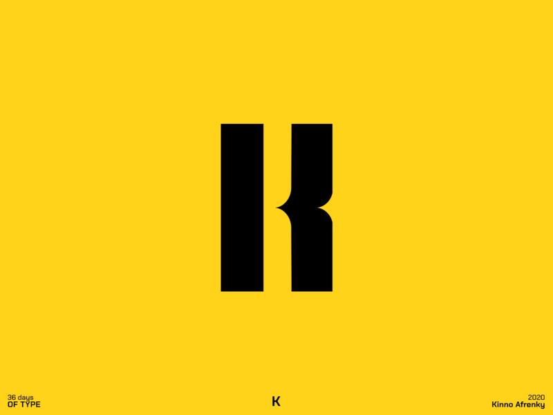 36 Days of Type : K logodesign design dailylogochallenge branding brand identity logo k logo k 36daysoftype