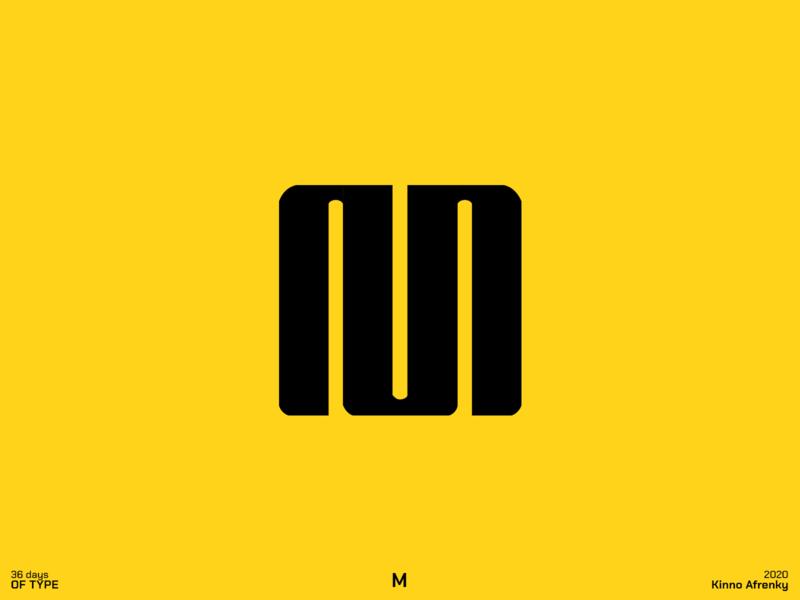 36 Days of Type : M logodesign design dailylogochallenge branding brand identity logo m logo m 36daysoftype