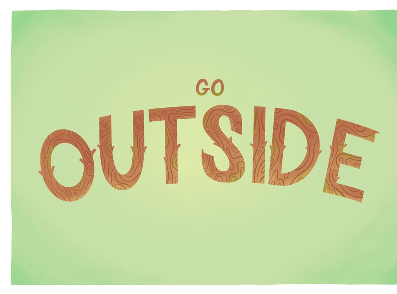Go outside ipad lettering