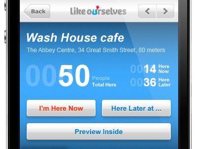 iPhone app UI - Likeourselves #4 iphone ui app interface gui