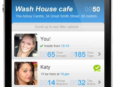 iPhone app UI - Likeourselves #5 iphone ui app interface gui