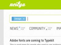 neilya 01 - web app UI