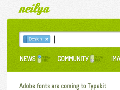 neilya 02 - web app UI ui white green blue clean web app interface web design website pixel