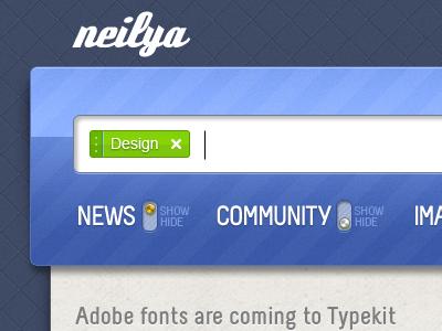 neilya 03 - web app UI ui green blue clean web app interface web design website pixel