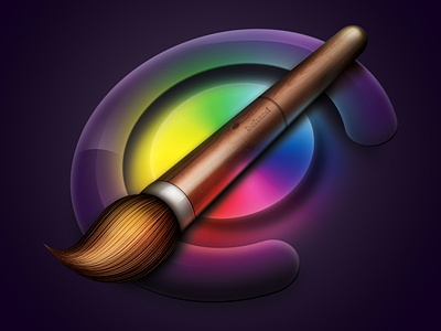 Painting Icon paint painting brush color colorful icon ps