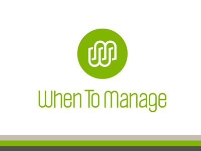 WhenToManage Logo brand logo green identity logodesign