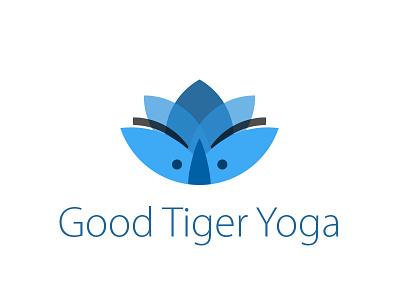GTY Logo blue brand tiger logo yoga lotus