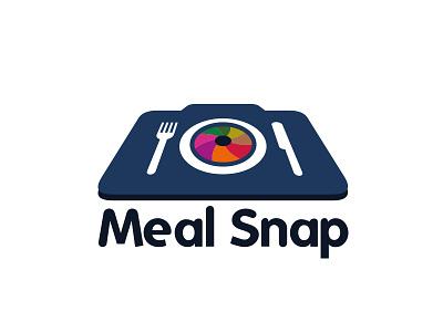 MealSnap.com Logo logo brand camera meal food color wheel snap shot fork knife
