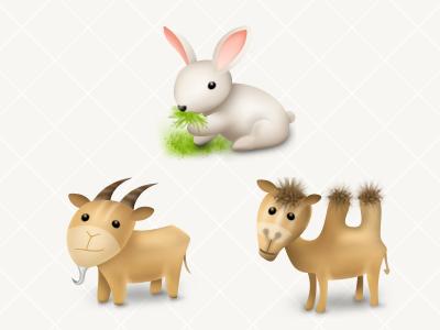 DB App Icons  02 icon badge fitness photoshop 128 rabbit camel goat
