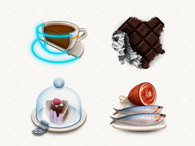 DB App Icons  03 icon badge fitness photoshop 128 fish chocolate coffee cup