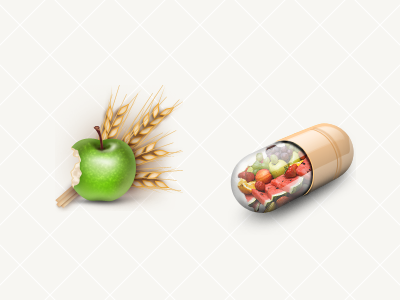 DB App Icons  05 icon badge fitness photoshop 128 tablet apple fruit wheat