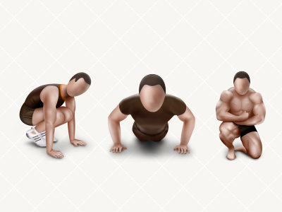 DB Workout Icons  06 icon badge fitness photoshop 128 man workout