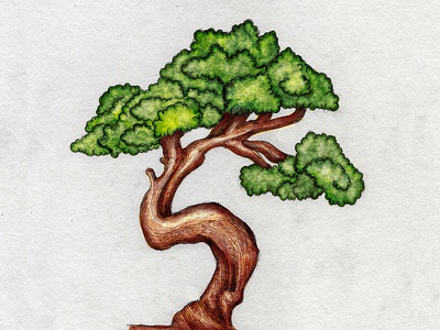 TreeFor4NobleFriends print charityproject kzloty drawing inking