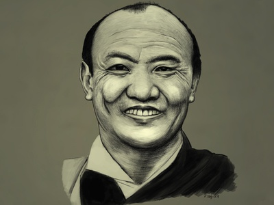 16th Karmapa portrait inking kzloty karmapa 16th