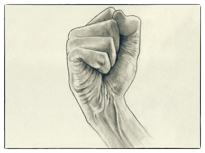 Fist Pencil Sketch anathomy drawing first kzloty pencil