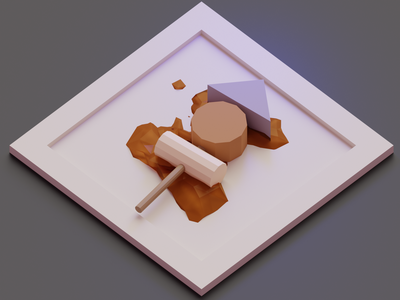 Low Poly Oden 🍢 yummy japanese food oden lowpolyart low poly lowpoly blender3dart blender
