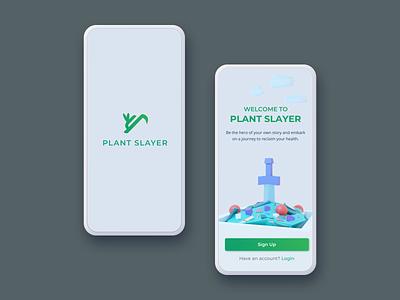 001 Sign Up plantslayer health app app sign up dailyui uidesign signup mobile ui ui mobile vegan health