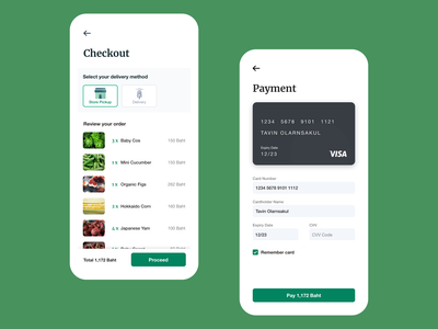 002 Checkout uidesign ui creditcard checkout credit card mobile cooking healthy health groceries grocery delivery delivery app uichallenge dailyuichallenge dailyui app