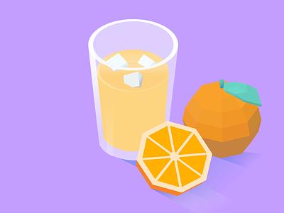 OJ 🍊 illustrations oranges orange juice orange lowpolyart low poly lowpoly