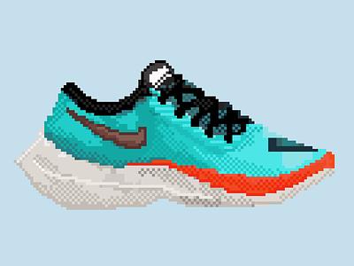 Nike Next% Ekiden bit 128bit shoes running next nike pixelart pixel