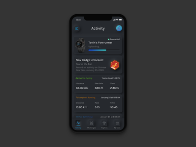 Garmin Connect redesign with Neumorphism 🏃🏻‍♂️🎨 ui redesign skeuomorphism skeuomorphic actvity activities dashboard wellbeing health cycle redesigned running cycling excercise fitness garmin neumorphic neumorphism soft ui