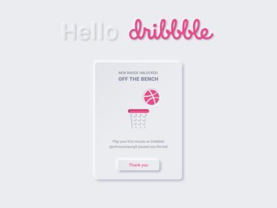 Hello Dribbble =]
