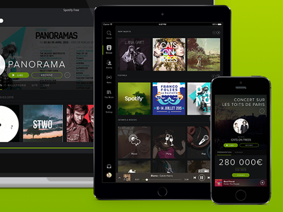 Spotify & Panorama spotify design ui ux party festival
