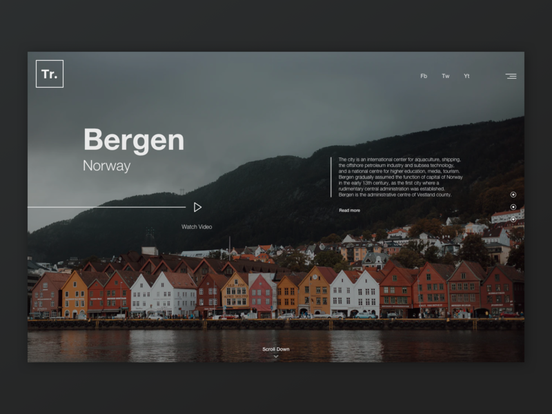 Bergen website web design ux minimal ui