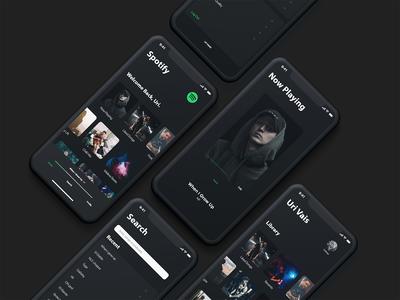 Minimalistic Spotify Concept