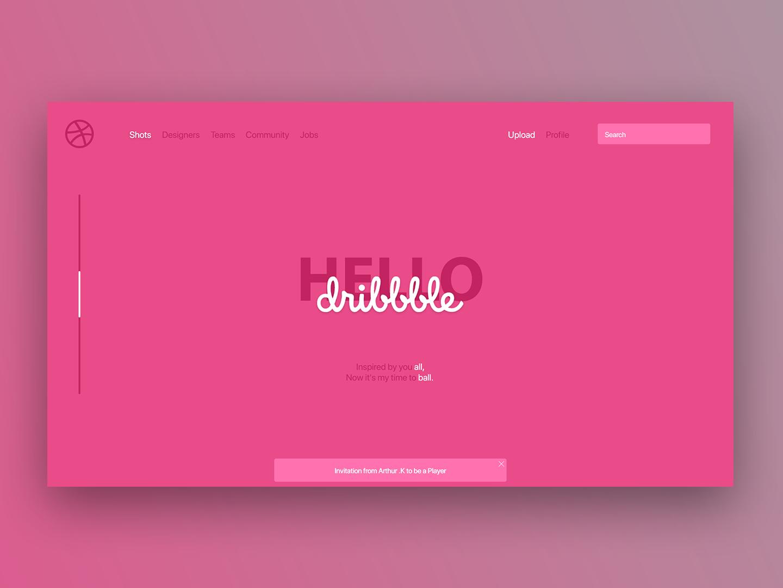 Hello Dribbble hellodribbble hello dribble dribbble web typography ux ui minimal flat