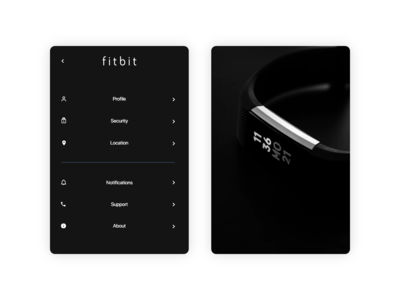 Fitbit - Settings UI Daily 007