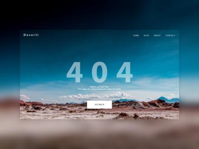 Deserti 404 - Daily UI 008