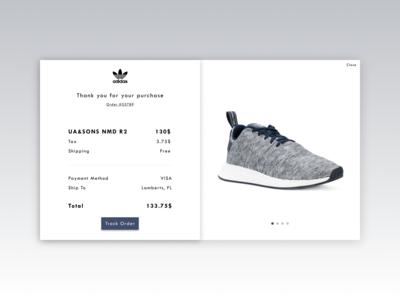 adidas receipt - Daily UI 017