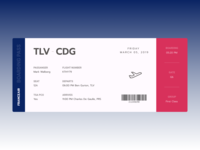 FRANCEAIR Boarding Pass - Daily UI 024