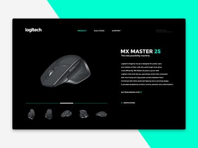 MX Master 2S oled tech product mouse logitech web dailyui design ux ui minimal