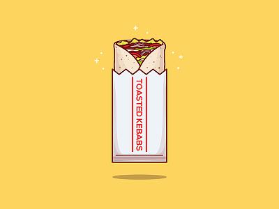 Kebab! illustrator illustration vector sticker icon food kebab halal