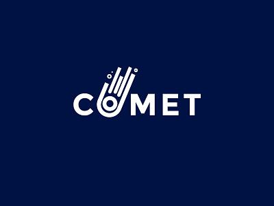 Daily Logo Challenge | #001 Comet Logo Design rocket space logochallenge logodesignchallenge challenge logodesign logo dailylogochallenge