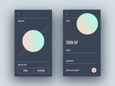 #001.Sign Up ux daily signup ui