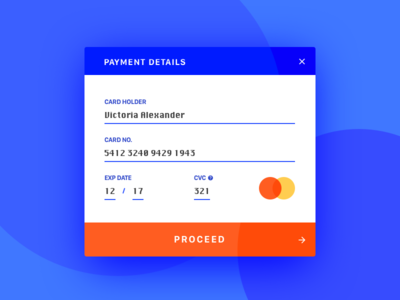 #002.Credit Card Checkout pay card credit challenge ui daily