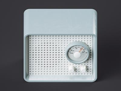 Icon icon radio illlustration c4d