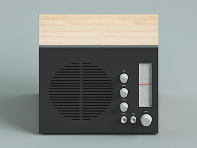 Icon braun icon radio illlustration c4d