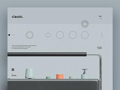 CLASSIC. model braun c4d 3d